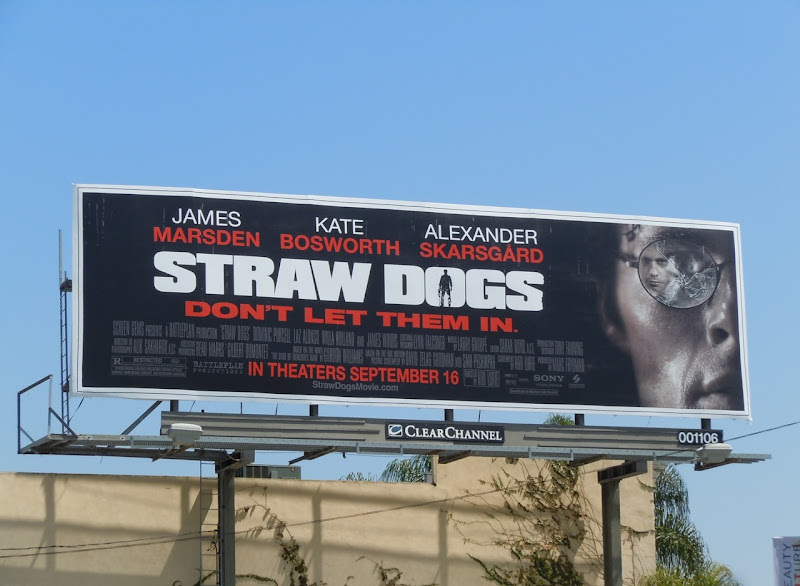 Straw Dogs movie billboard