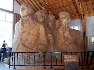 A scale model used to build Mount Rushmore