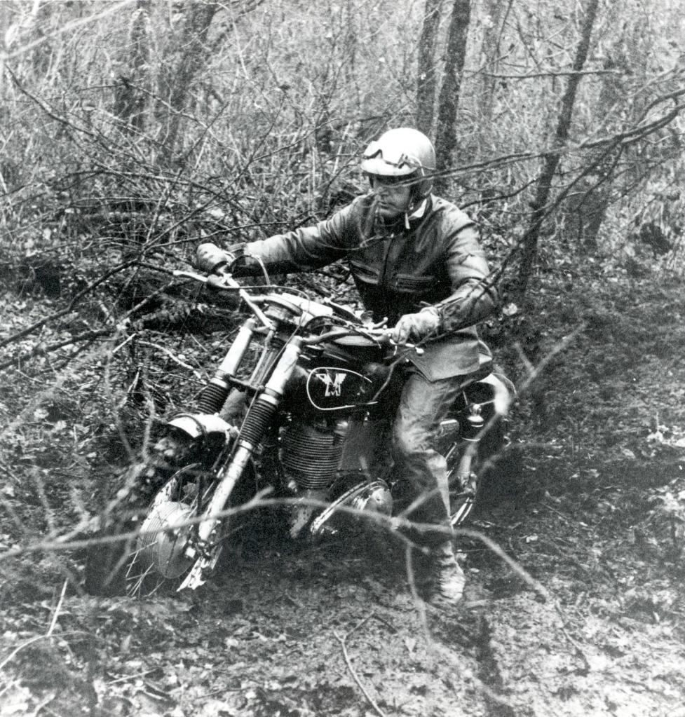 Charlie schumitz in a new england run riding a matchless 500 single