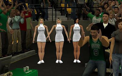 NBA 2K13 Boston Celtics Cheerleaders Mod