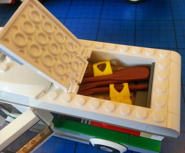 LEGO Camper Van model 60057 campervan removable roof section storage