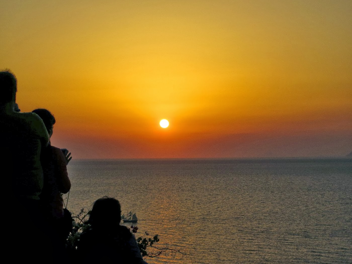 dove osservare il tramonto a santorini