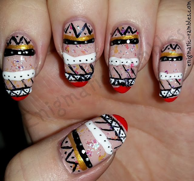 aztec-flakie-nails