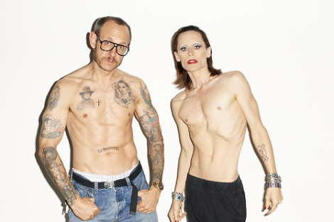Jared Leto and Terry Richardson shirtless