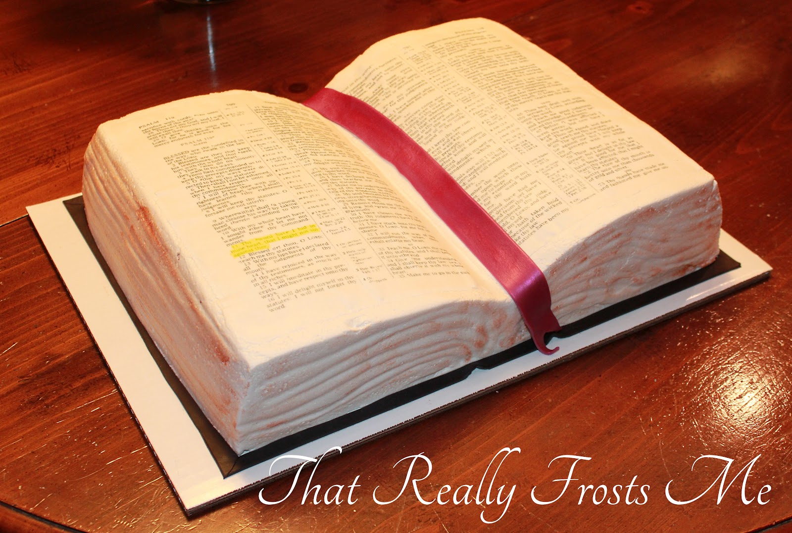 That Really Frosts Me Sunday School Bible Cake