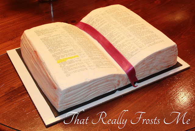 How To Make A Book Cake : That really frosts me sunday school bible cake