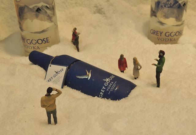 Grey Goose vodka window display in London