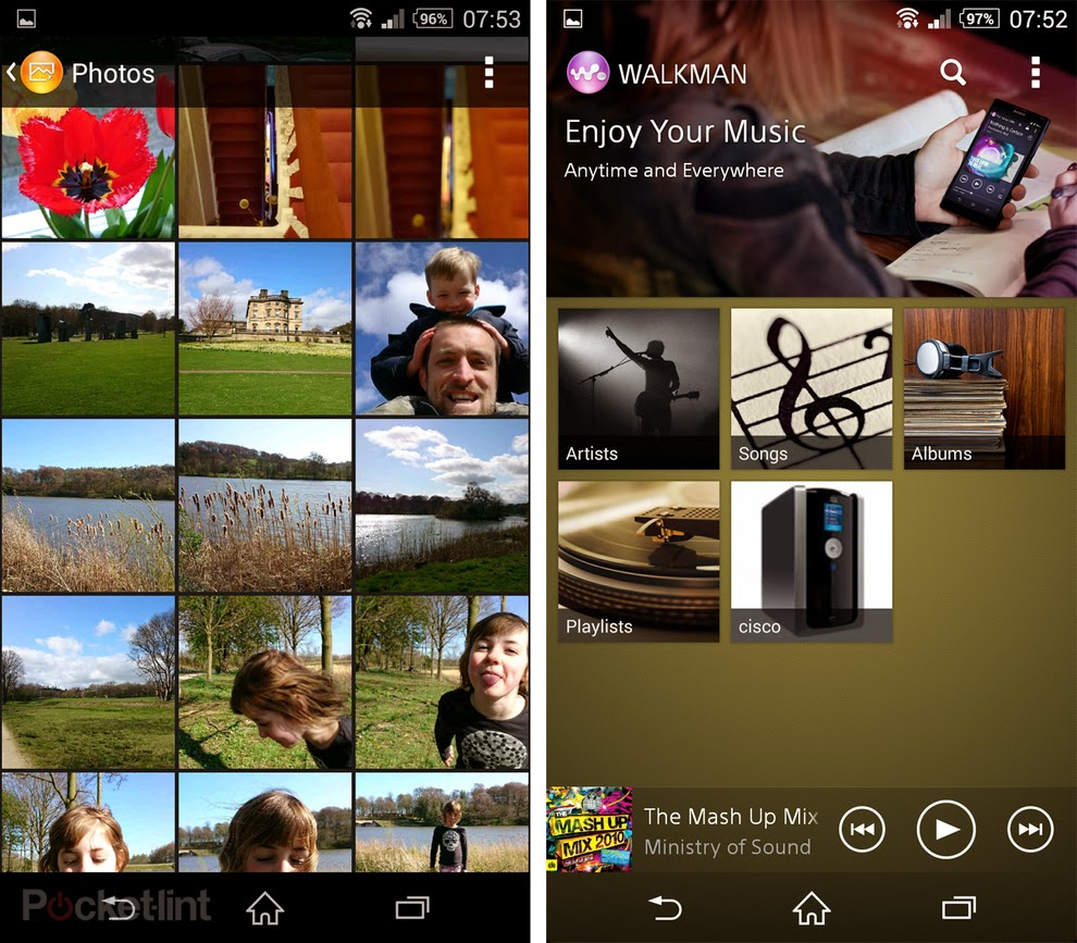 sony xperia z2 walkman and gallery