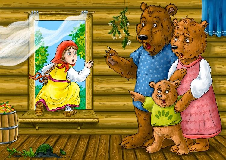в картинках сказка 3 медведя