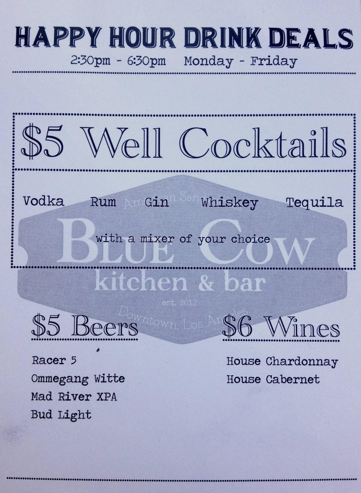 Blue Cow Kitchen And Bar Vixens La Happy Hours Blue Cow Kitchen Bar