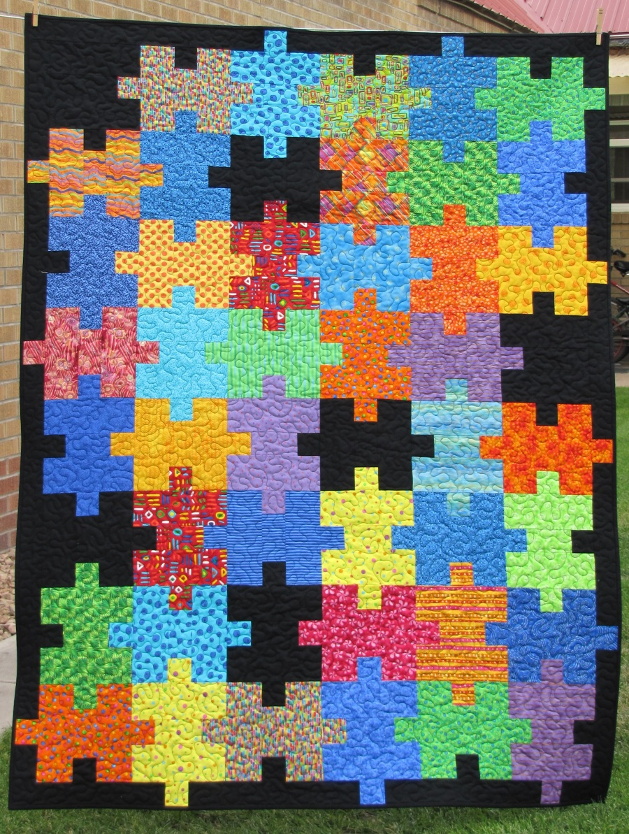 Alamosa Quilter Ufo Bust Report Puzzle Quilt Finished