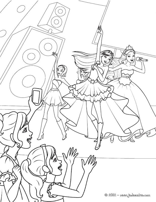 Barbie And The Diamond Castle Coloring Pages Coloring