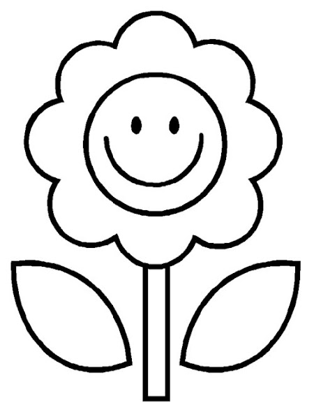 Easy Flower Coloring Pages