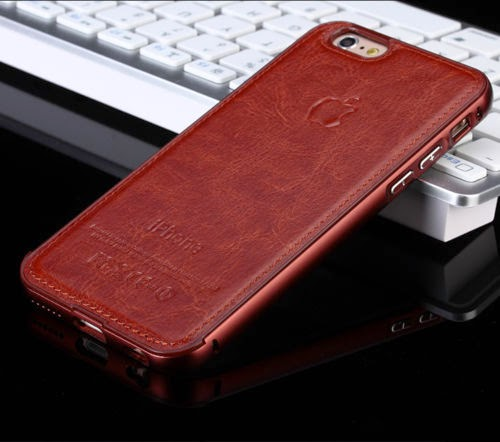 New !Luxury Aircraft Aluminum+Leather Phone Case Cover for iPhone 6 iPhone6 Plus