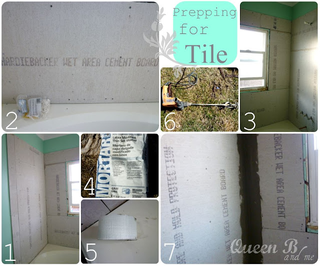 Subway Tile Tutorial from Queen B & Me on { lilluna.com } Great tips!