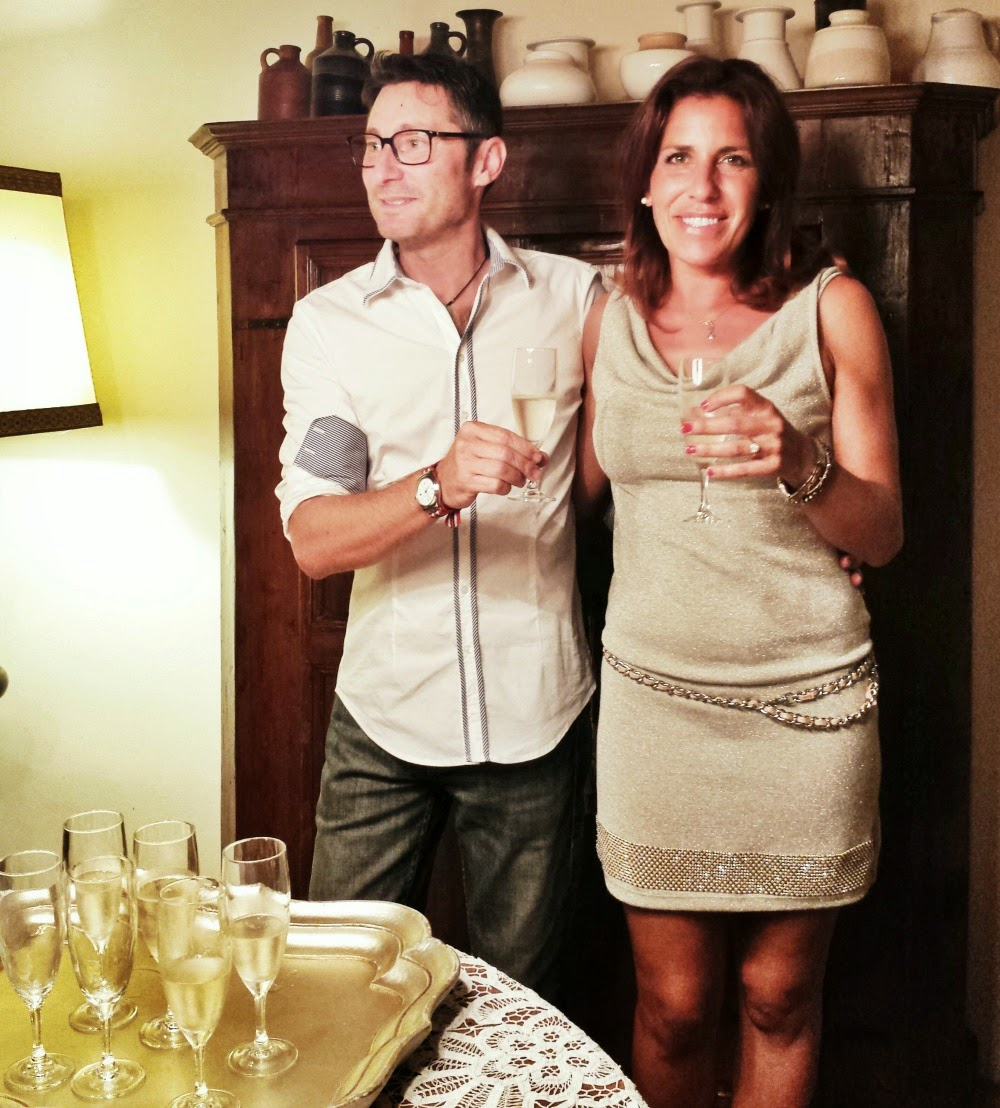 Andrea Carlini and his wife, Angela, owner of Tenuta Carlini Winery in Italy