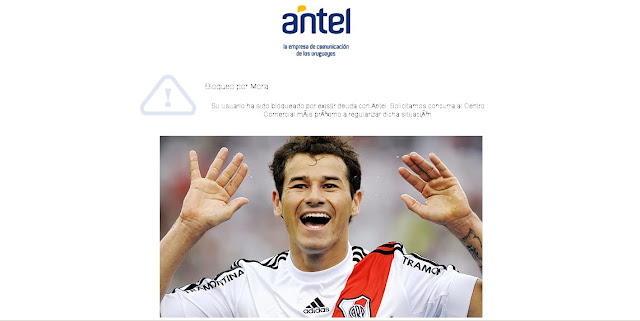 ADSL de Antel bloqueado por Mora