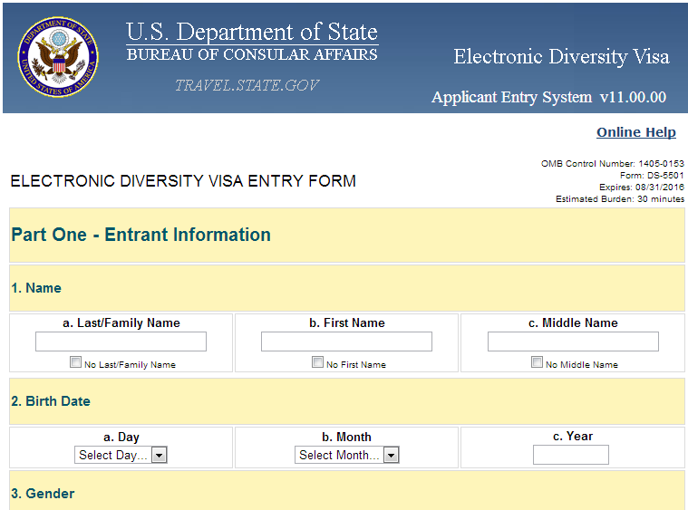 How to Fill US DV Lottery 2015 Application Form ~ The unique Blog