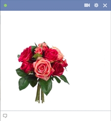 Red Roses Bouquet Facebook Emoticon