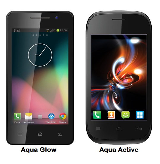 Intex Aqua Glow and Aqua Active Price, Features and Specifications