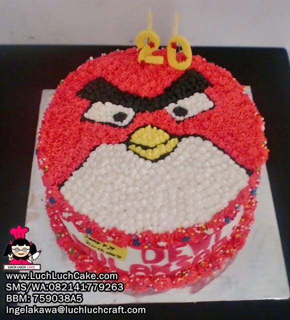 Kue Tart Ulang Tahun Angry Bird 3D