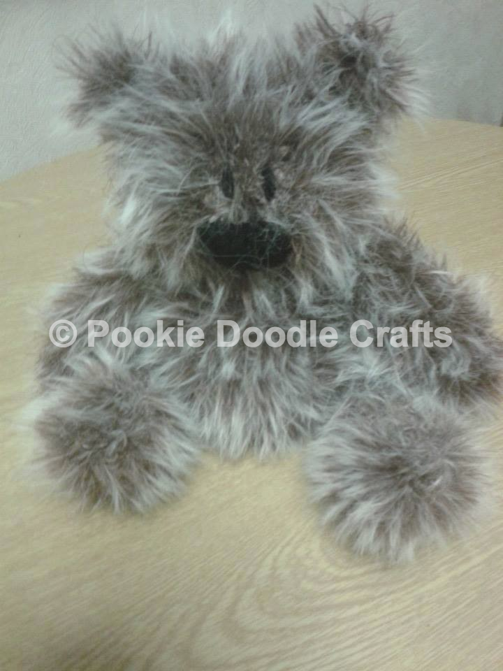 Pookie Doodle Crafts: Knitted Teddy Bears in king Cole Luxe Fur Yarn
