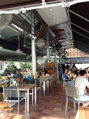 Al fresco dining area of Cafe Melba Singapore