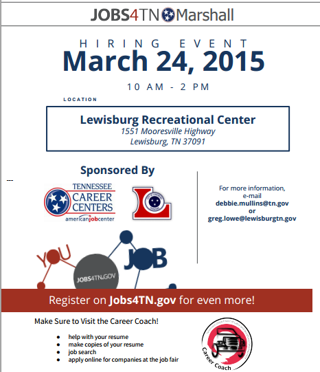 Lewisburg tennessee 2015 jobs4tn gov and the city of lewisburg economic development is announcing the jobs4tn hiring event lewisburg the event will be held on tuesday march 24 publicscrutiny Image collections