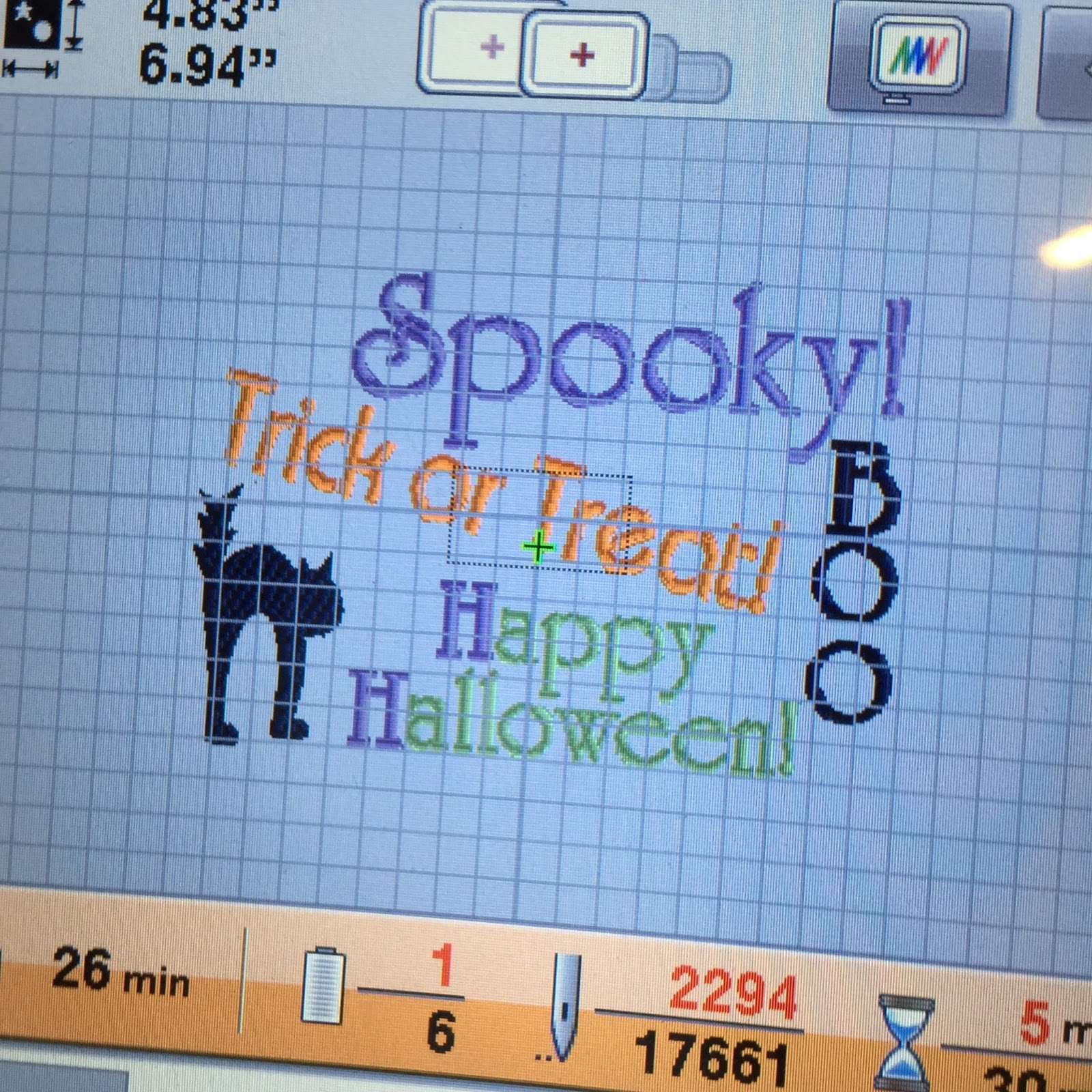 cookie's embroidery and sewing creations: halloween machine