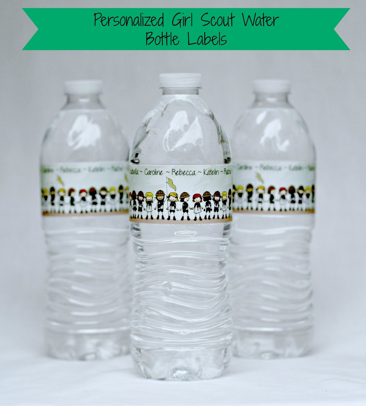 Personalized Sports Bottle Labels: Keeping My Cents ¢¢¢: Girl Scout End Of The Year Party