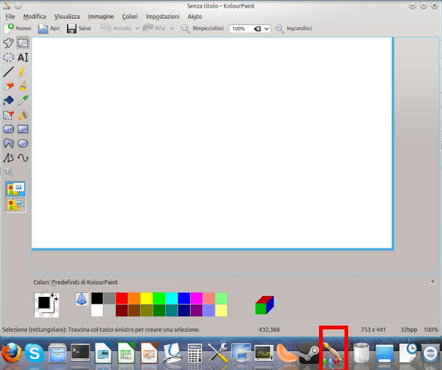 Ubuntu tricks kolourpaint il semplice sostituto per Paint for linux