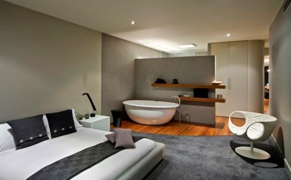 Baño Dormitorio Integrado:Diseños de dormitorios con baño – Dormitorios colores y estilos