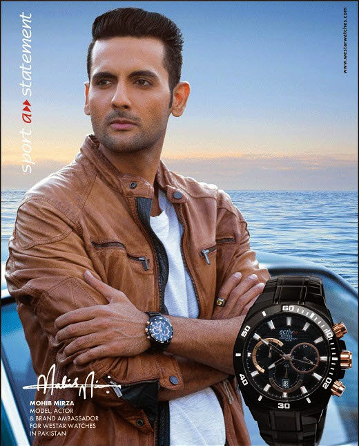 Mohib Mirza brand ambassador of wrist watch