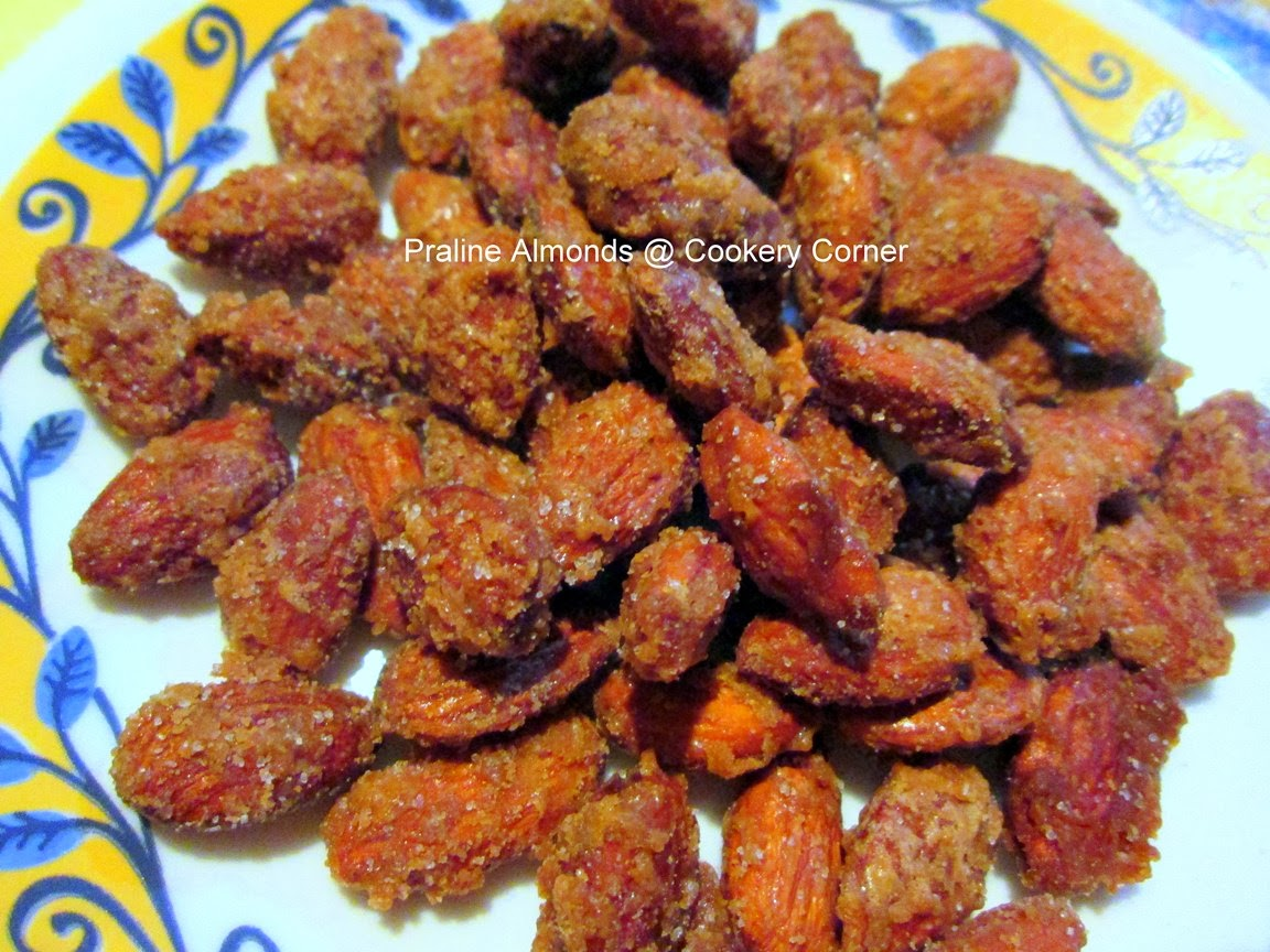 and give a tasty crunch to the almonds praline almonds