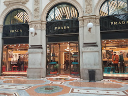 ....with so many exclusive shops , Prada