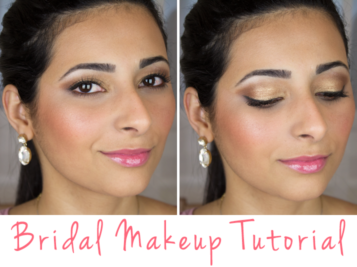 Bride Eye Makeup Tutorial : Bridal Makeup Tutorial: Brown and Gold Smokey Eye