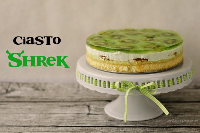 ciasto, z kremem, na imprezę, shrek, zielone, przepis na
