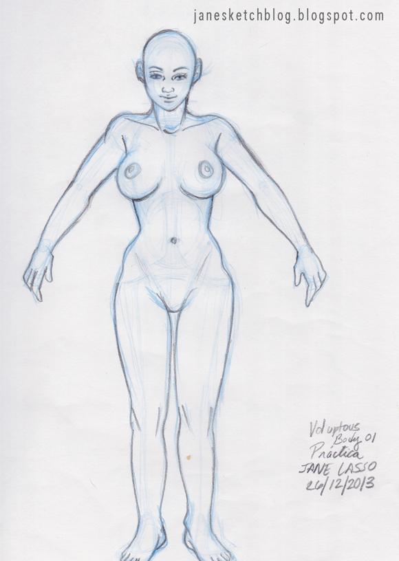 Dibujo de cuerpo voluptuoso