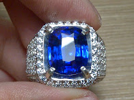 6,83ct NATURAL ROYAL BLUE SAPPHIRE GD Ring