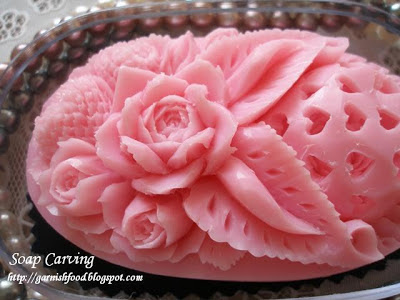 beautiful soap carving heart  roses design