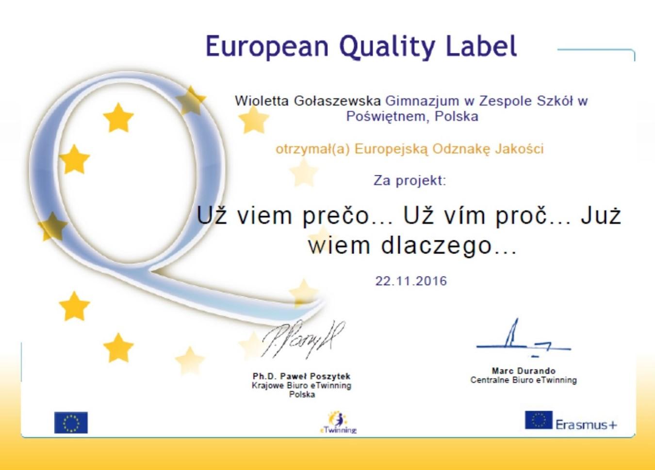 European Quality Label  - PL