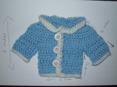 CROCHET PATTERN PREEMIE SWEATER | Original Patterns