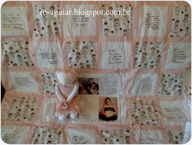 Quilt de Boas Vindas para bebê - Patchwork