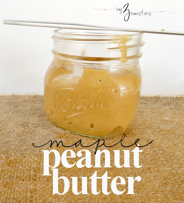 Maple Flavored Peanut Butter at my3monsters.com