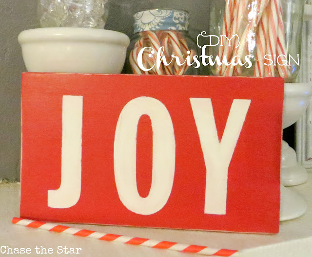 http://www.chasethestar.net, diy, sign, joy, red, christmas, holiday