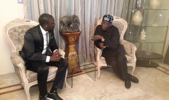 Akon pays official visit to Bola Tinubu, see why!