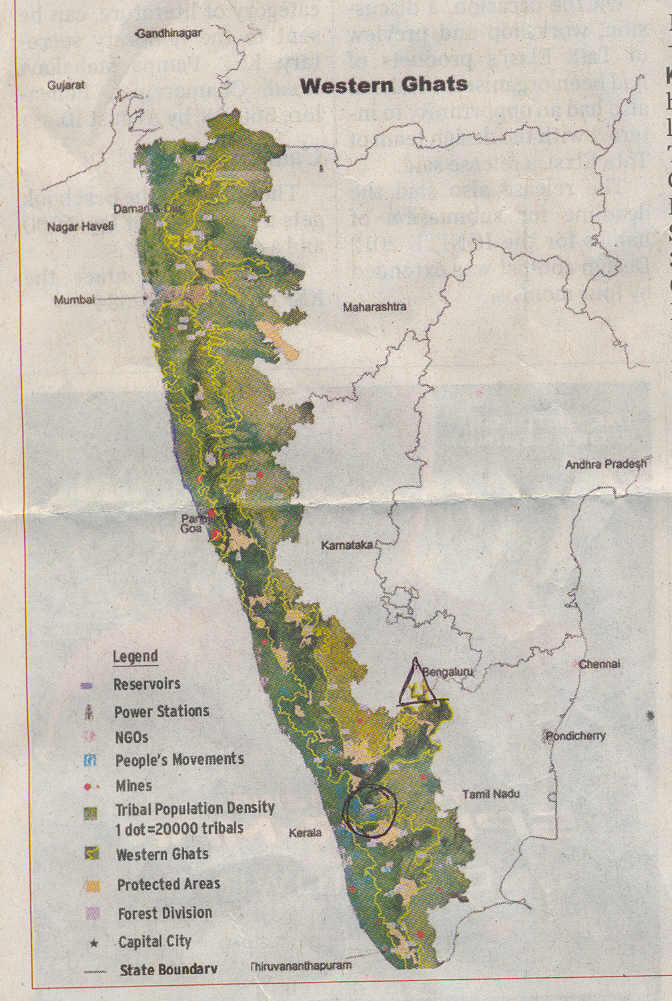 Western Ghats On Map BANGALORECITY: The Wes...