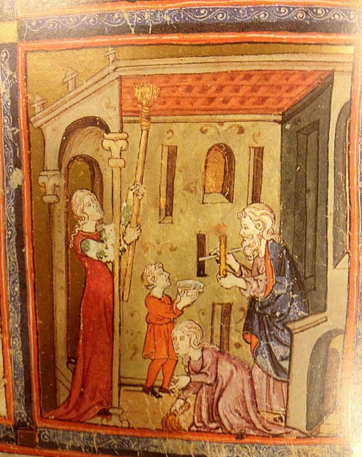 Searching for leaven, The Golden Haggadah