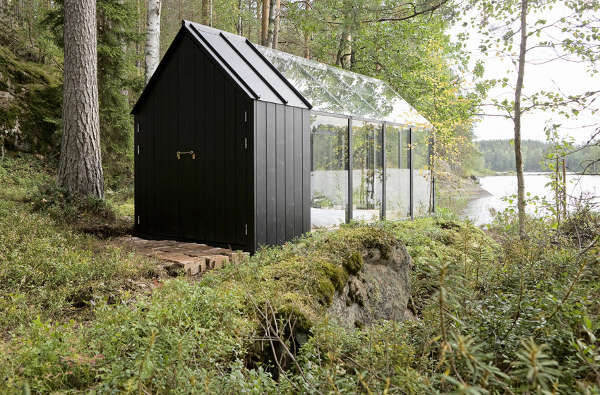 Green House/Garden Shed designed by Ville Hara and Linda Bergroth for Kekkilä Garden (Finland) - photograph by Arsi Ikäheimonen - as featured on linenandlavender.net - http://www.linenandlavender.net/2014/05/communing-with-nature.html