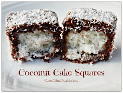 COCONUT CAKE SQUARES (also known as Lamingtons)
